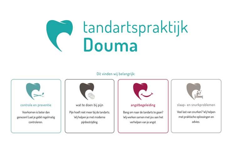 Iconen set ontwerp voor tandartspraktijk Douma door GRAPHX 66
