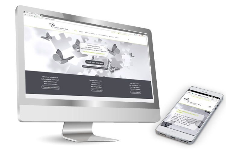 wordpress website voor Margot van den Berg, coaching en training